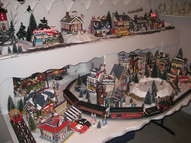 Train sets for around christmas trees zone