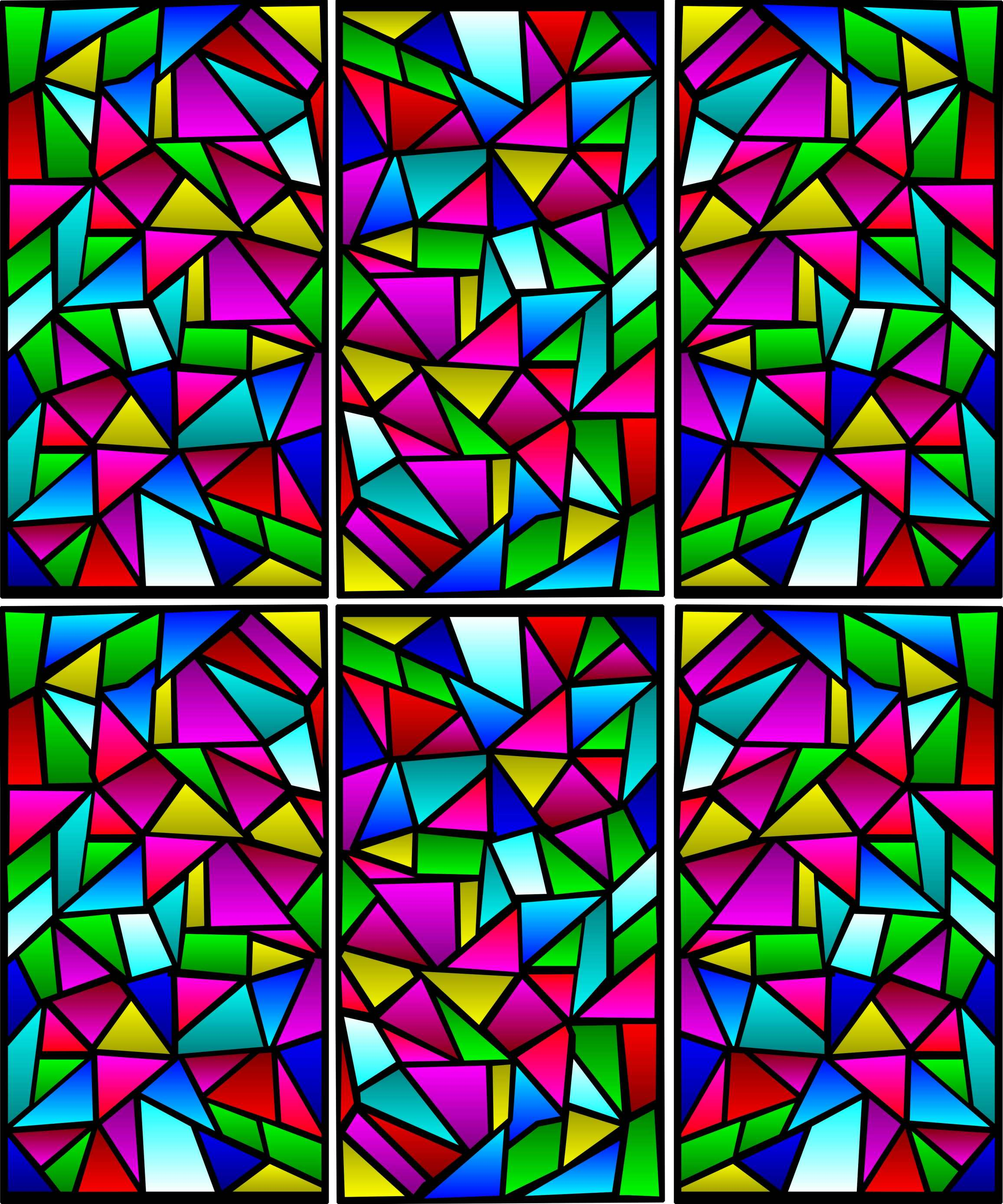 Stained Glass Window Patterns : Resources for big indoor trains