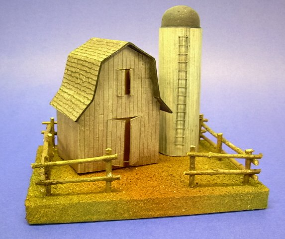 Building A Vintage Style Cardboard Barn And Silo