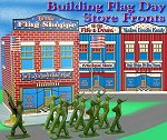 New for 2010! Click to see tinplate-inspired store fronts with patriotic themes
