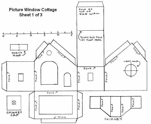 Building a bay window house for House plan printing