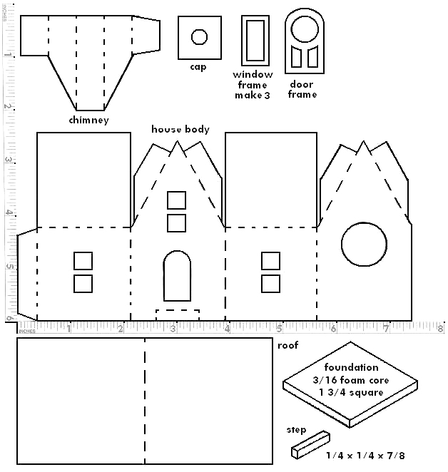 You may print the structure pattern on any sort of paper, since you're ...